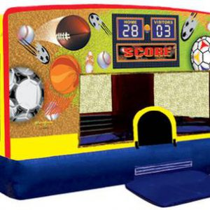 Sports Themed Bounce house for kids