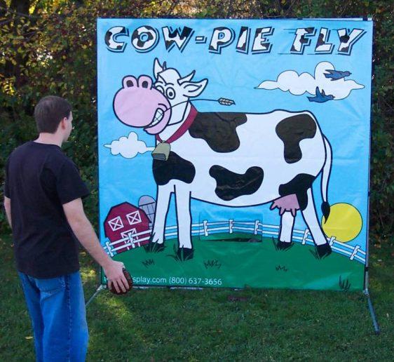 Cow pie fling