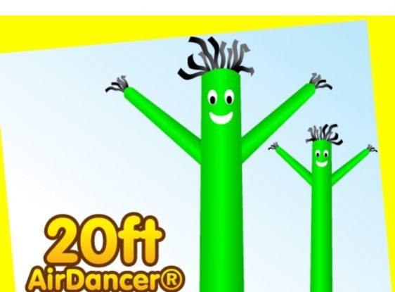 Fun colourful air dancer