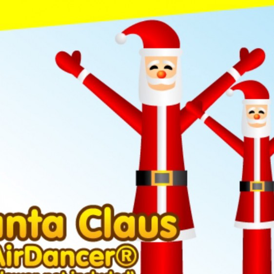 Fun Christmas theme air dancer