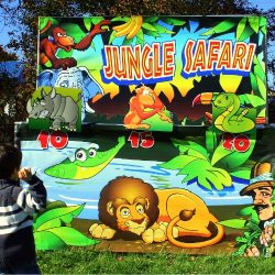 Jungle theme carnival game