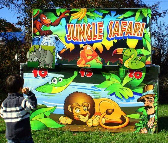 Jungle theme carnival game