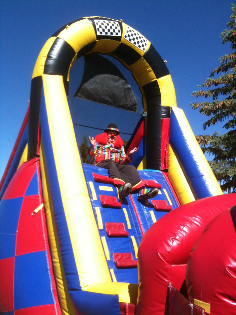 Clowns and inflatables