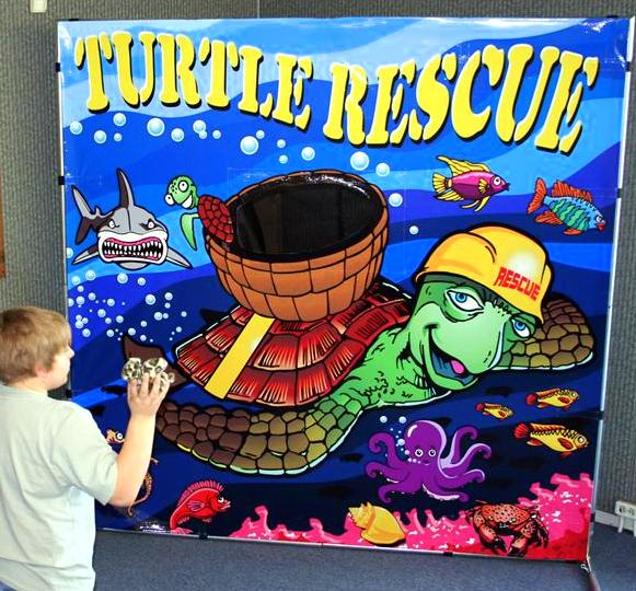 Turtle throwing game