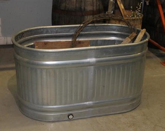 Metal drink bin