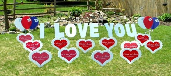 Just married yard signs