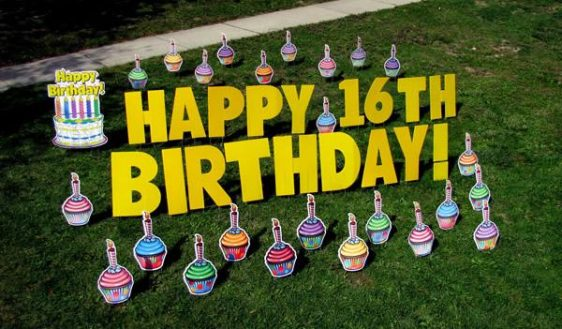 Birthday Greeting signs