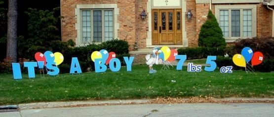 its a boy yard sign rentals