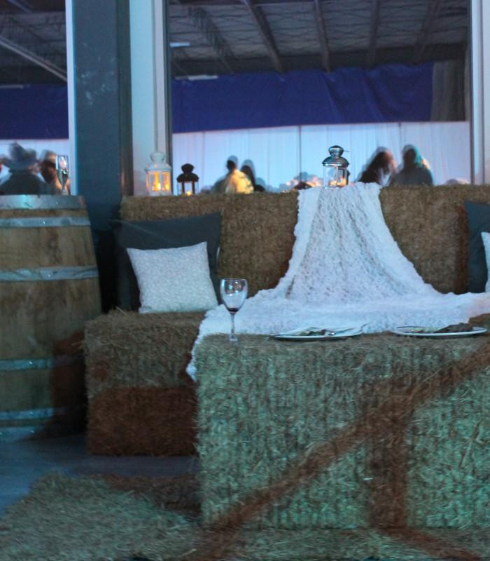 Hay Bales Great for Weddings