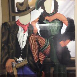 Saloon Couple Cutout