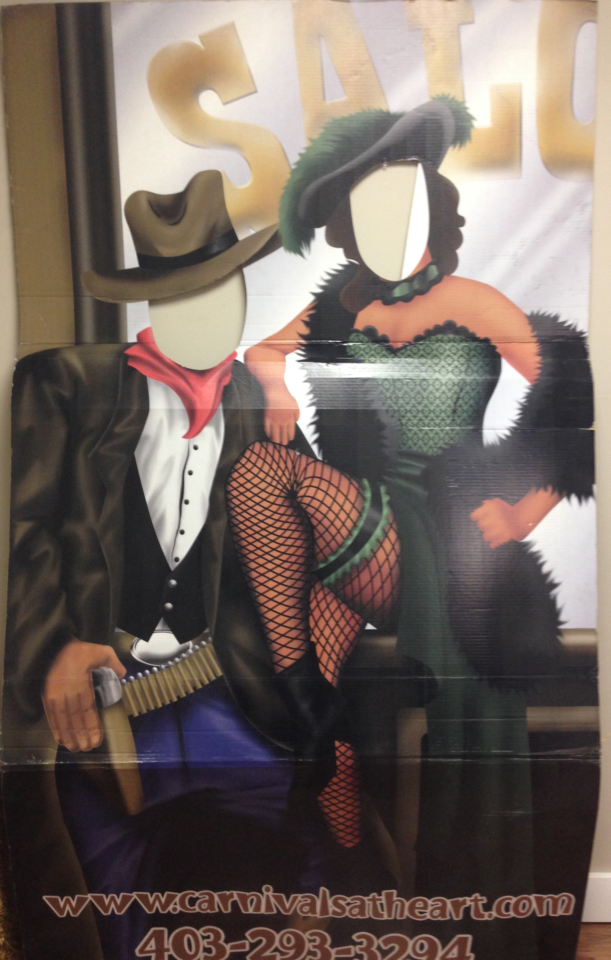 Saloon Couple Cutout