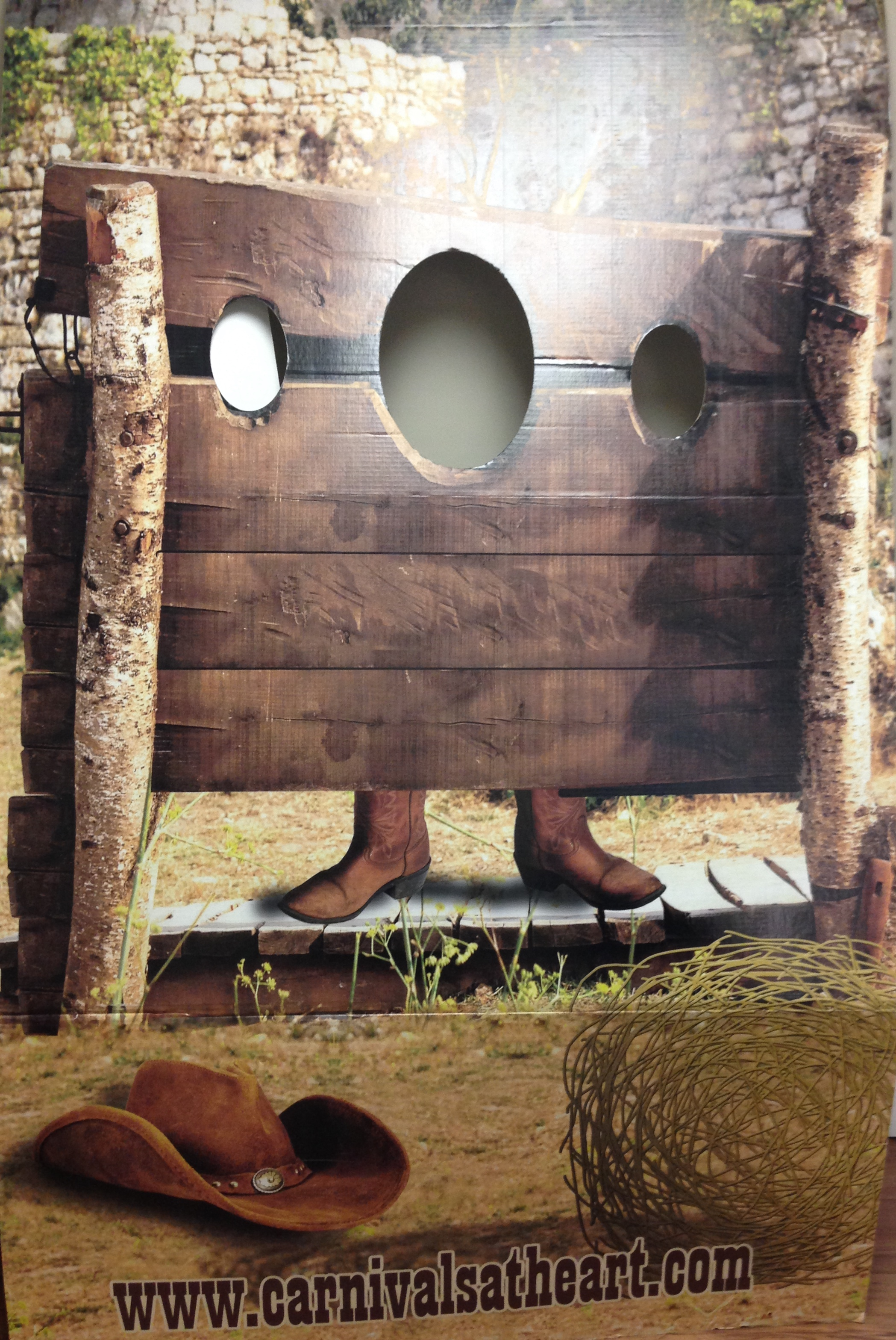 Western Stockade Photo Standee Carnivals For Kids At Heart