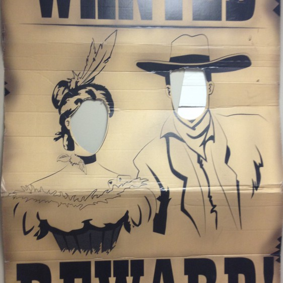 Wanted Couple Cutout