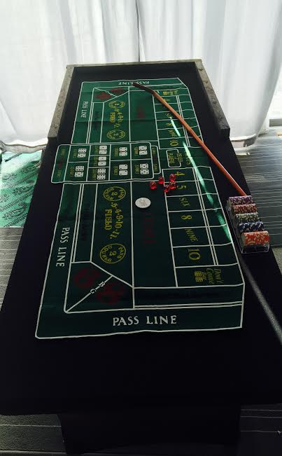 Craps Table Folding For Pickup Carnivals For Kids