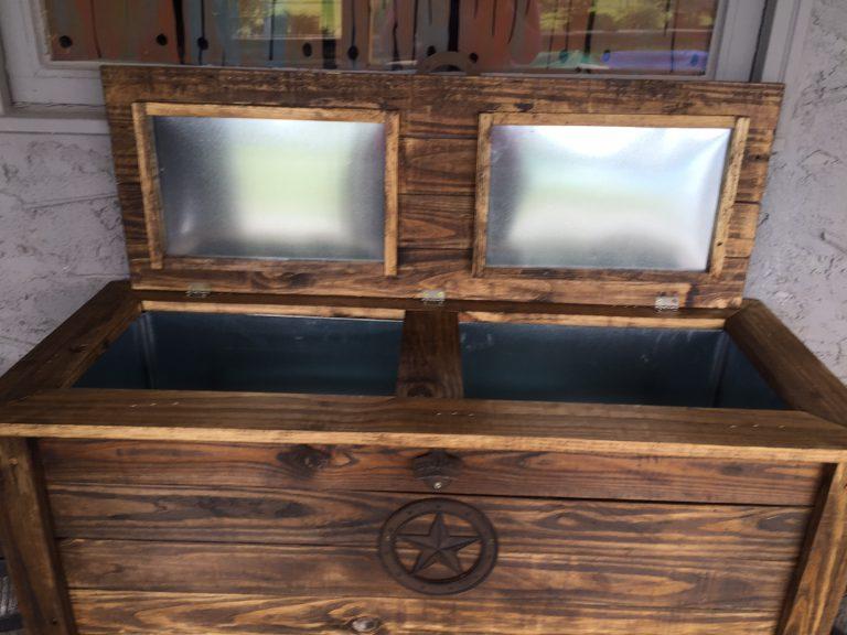 Wooden Cooler rentals