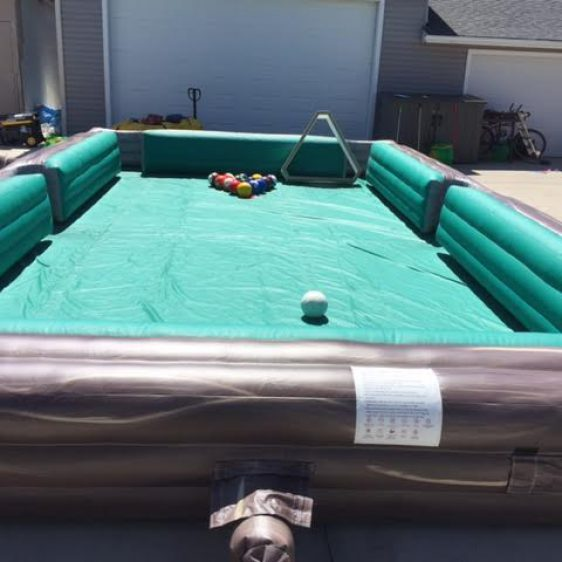human pool table soccer/ billiards 17×30 | carnivals for kids at heart