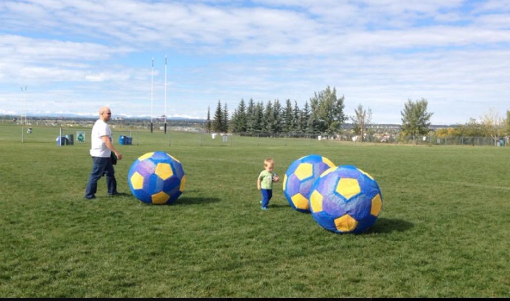 Oversized Soccer balls