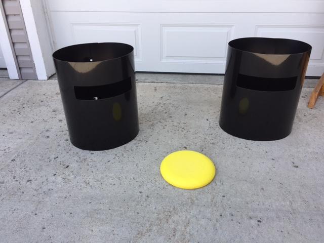 Frisbee throwing game