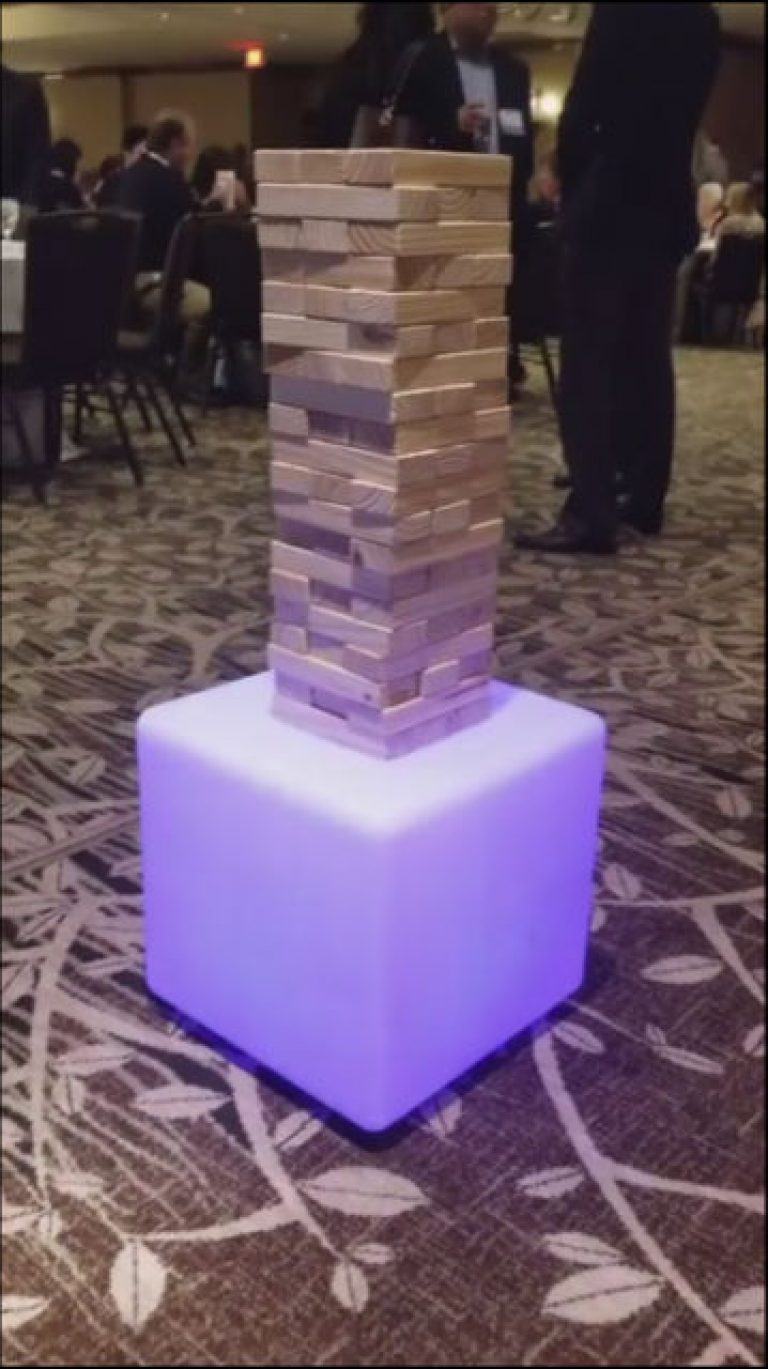 giant Jenga with led base