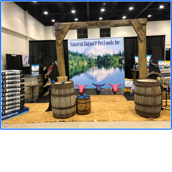 Rustic Theme Trade show booth