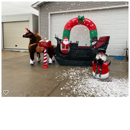 Santa Sleigh with Christmas decor