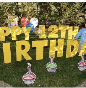 Birthday Cake Yard card