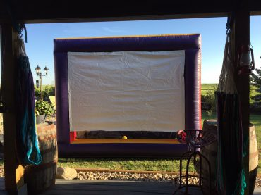 Outside Back yard  MOVIE night Weekend Package