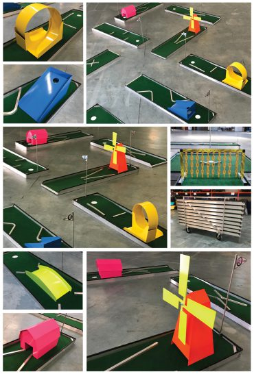NEW Neon 9 hole Pro Mini Golf is here next week