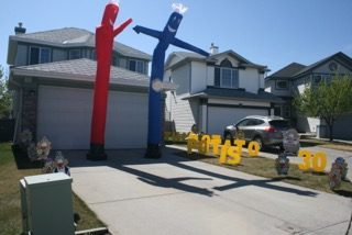 Yard signs with Air dancers