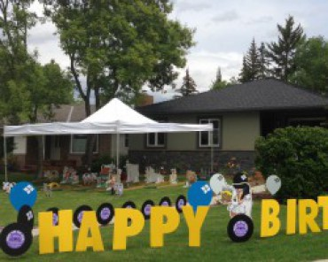 Birthday Party Signs for your Yard